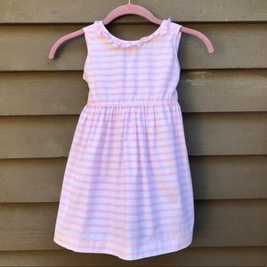 Other - Jeanine Johnsen Pink/White Stripe Dress Girls 4